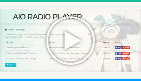 AIO Radio Player Adverts Commercials Manager