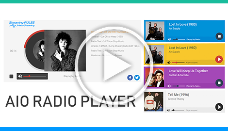 AIO Radio Station Player  pre-defined skins
