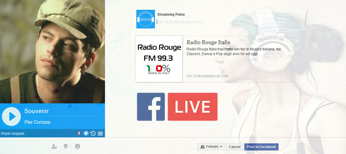 Adding AIO Radio Player to Facebook Page