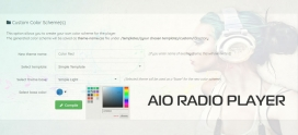 Choose Templates for AIO Radio Player