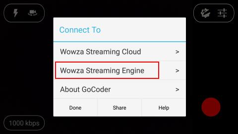 Wowza GoCoder Android   Streaming Pulse Inc