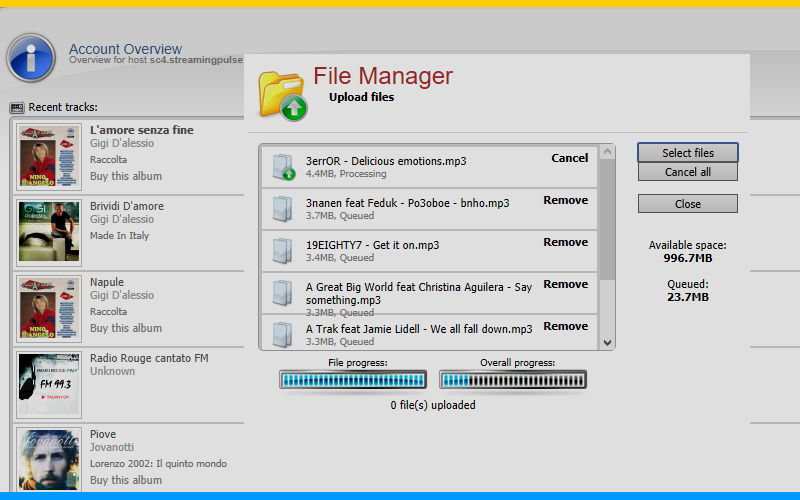 Centova Cast File Manager